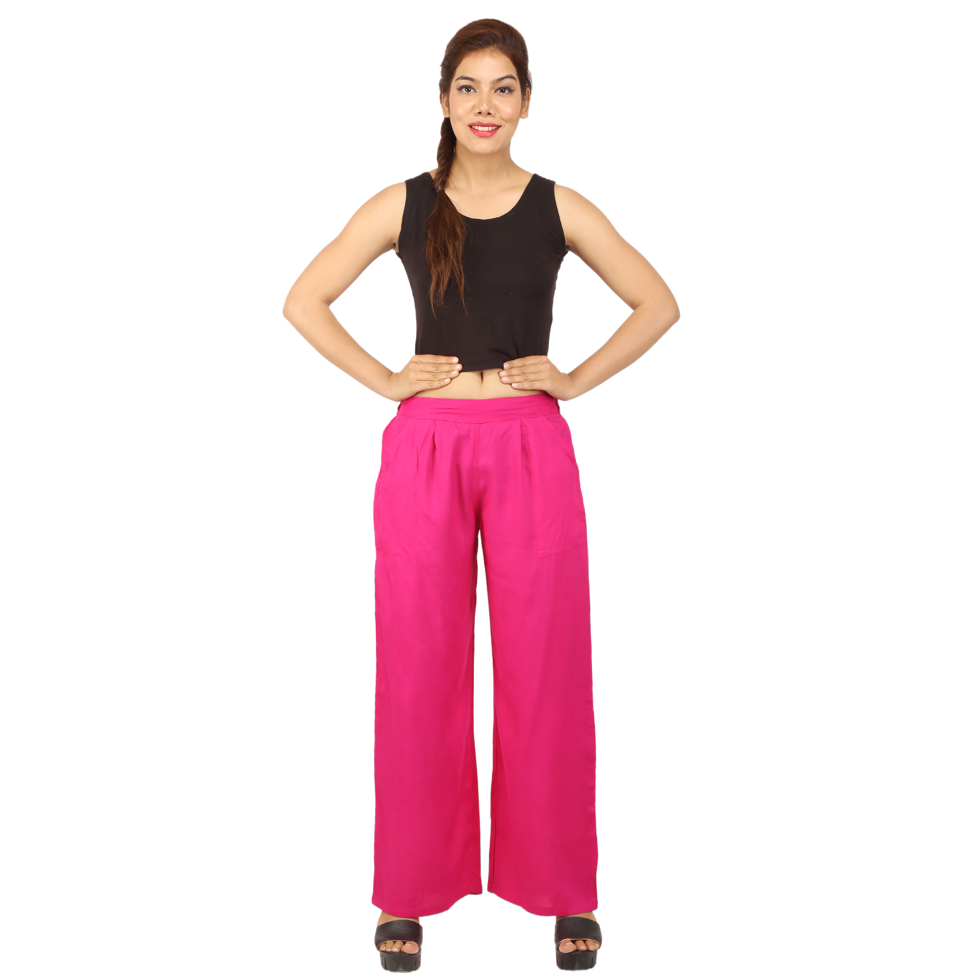 CHINMAYA Regular Fit Women\'s Pink Trousers