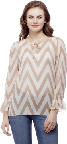 Wish Tree Casual 3/4th Sleeve Striped Women's Multicolor Top