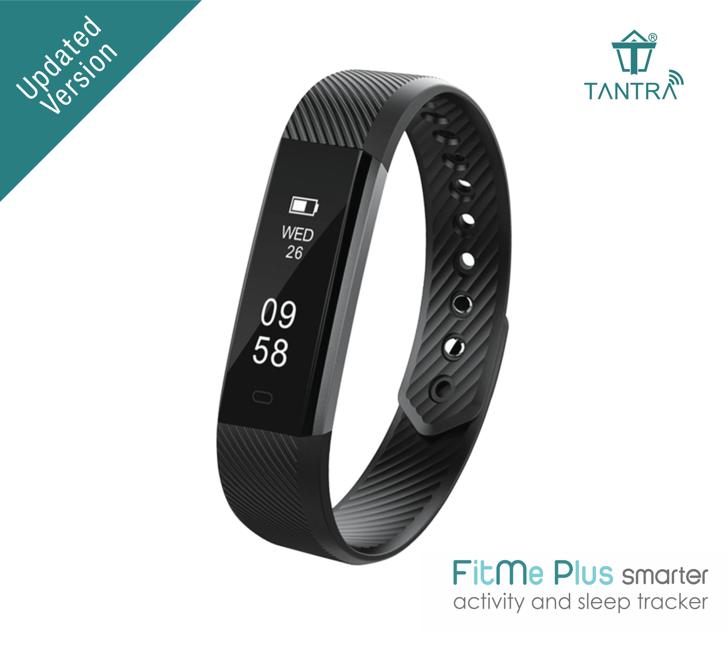 Tantra FitMe Plus IP67 Waterproof Fitness Tracker band with Step Count, Sleep Monitor, Calorie Tracker and Anti lost