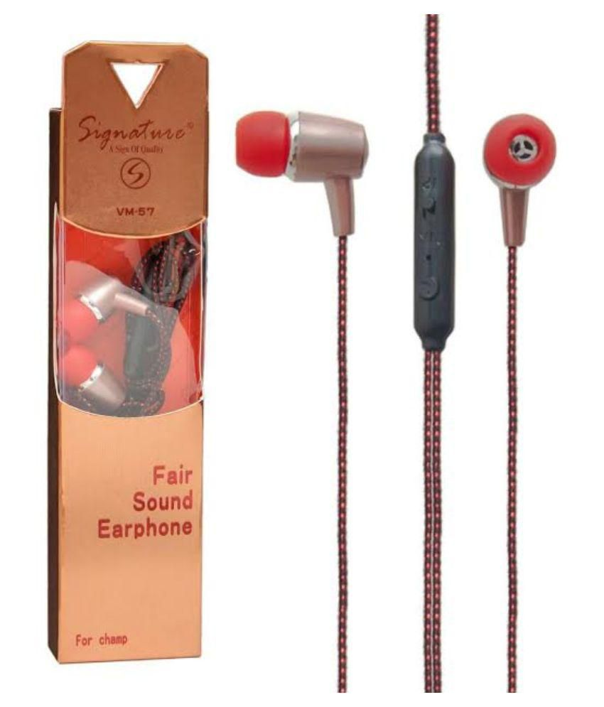 KSJ VM 57 UNIVERSAL HANDSFREE Wired Headphones