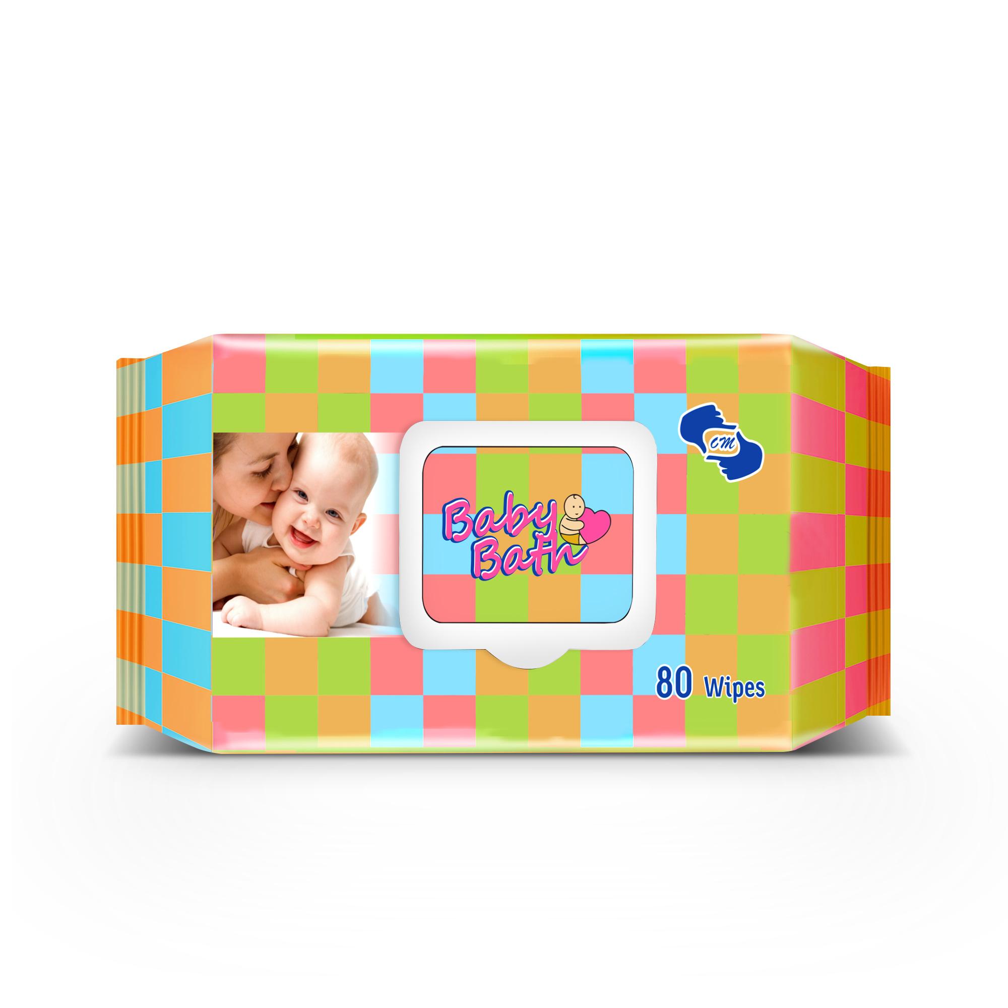 OM Skincare Baby Wipes With Aloe Vera   80 PCS