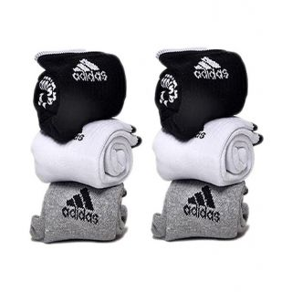 Adidas Multicolor Cotton Ankle Length Socks   6 pairs