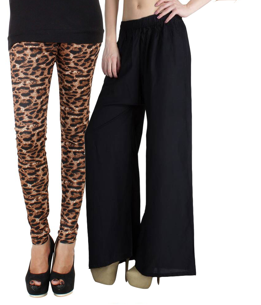 Riay Women Palazzo with Printed Jeggings