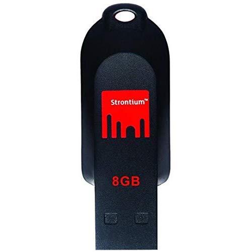 Strontium Pollex 8 GB USB Pen Drive  Black/Red