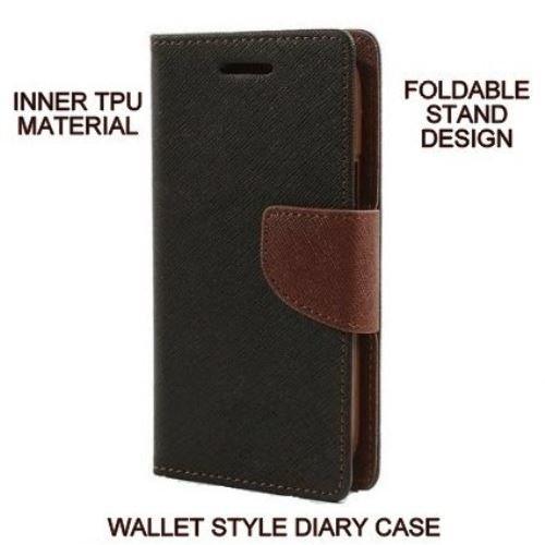 Mercury Goospery Fancy Diary Wallet Flip Cover for MOTOROLA MOTO E  1st GEN  Brown By Mobimon