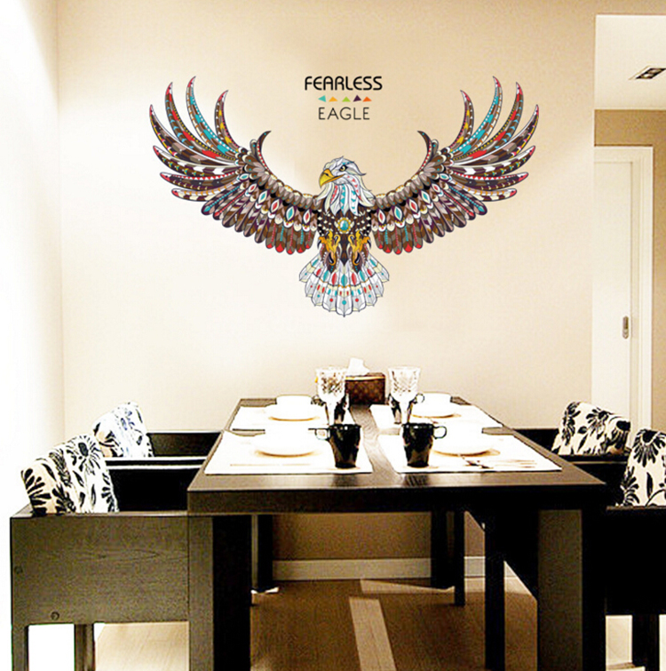 Jaamso Royals ' new eagle wings large wall stickers ' Wall Sticker  PVC Vinyl 90 cm X 60 cm Decorative Stickers
