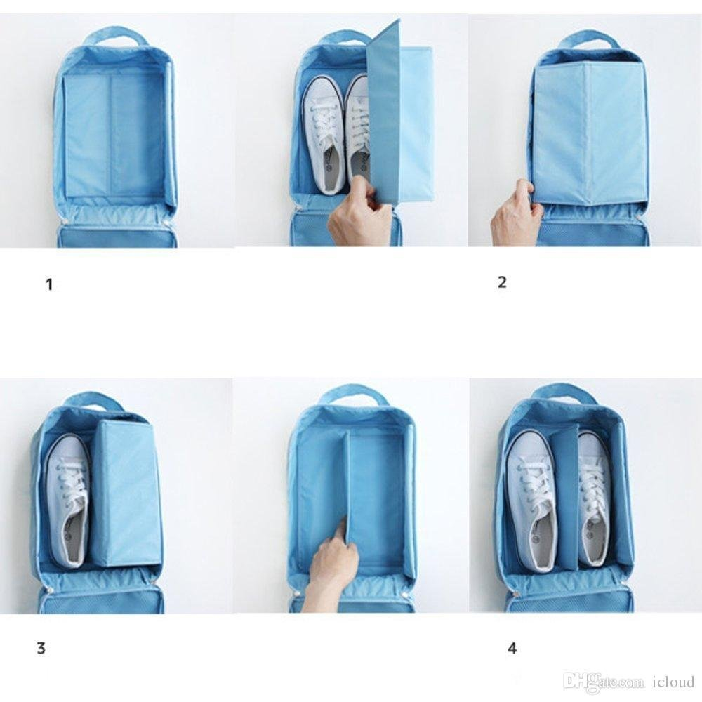 HOMEBASIC: Water Proof Shoe Storage Travel Tote Bag Multi Purpose Portable Foldable Organizer SKY BLUE