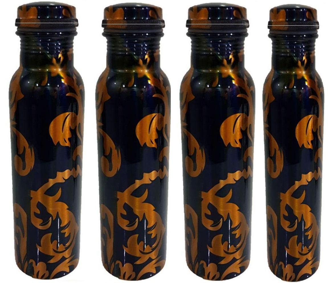 Buyerwell Multicolour Copper Water Bottle 1000 ml Pack of 4