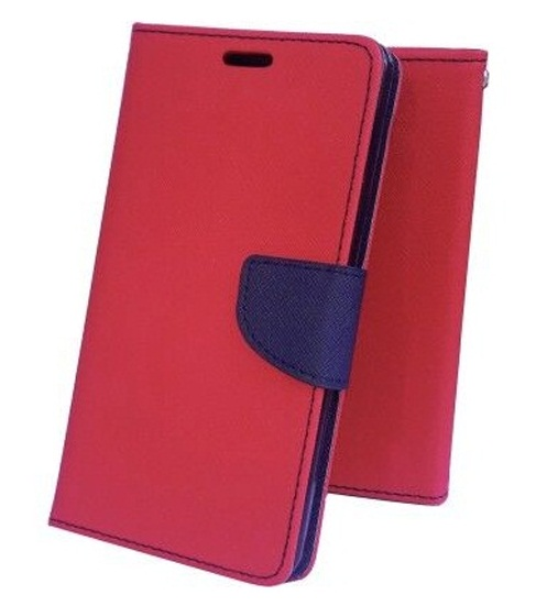 Micromax Canvas Xpress 2 E313 Wallet Flip Cover   RED