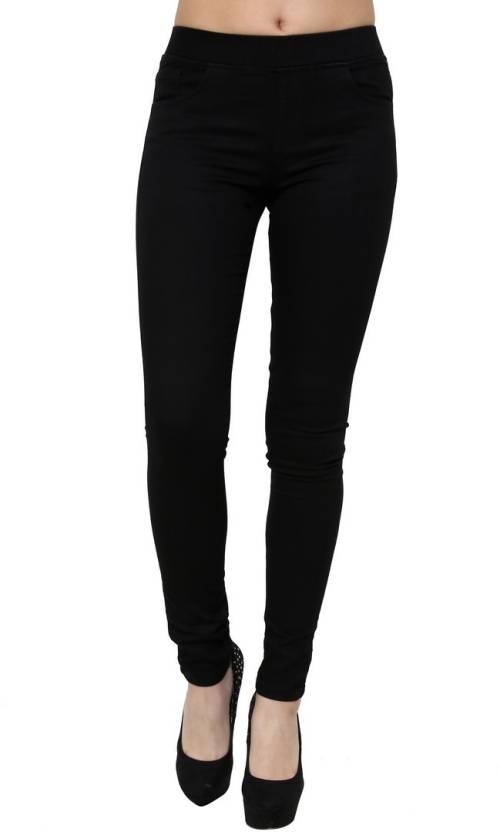 Black Denim Jeggings For Women