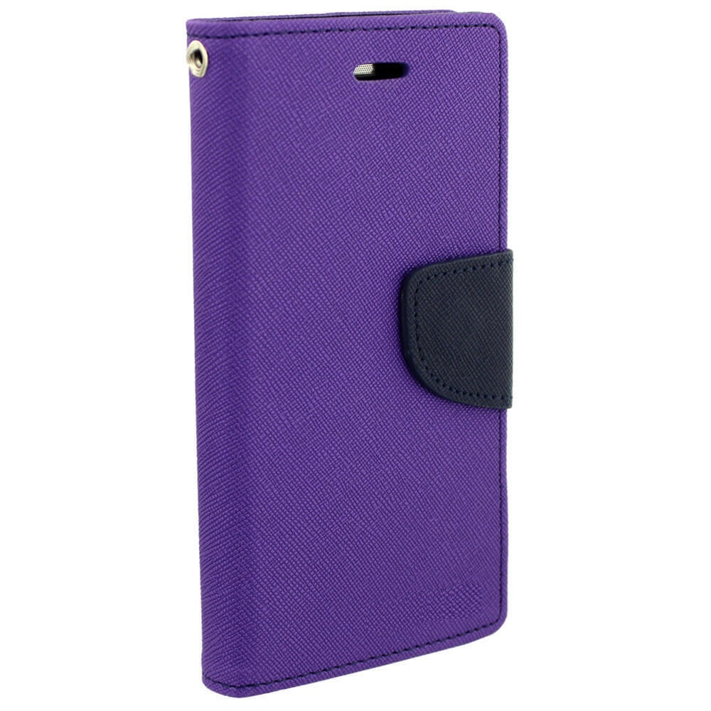 Micromax Bolt Q324 Cover / Wallet flip for Micromax Bolt Q324   PURPLE