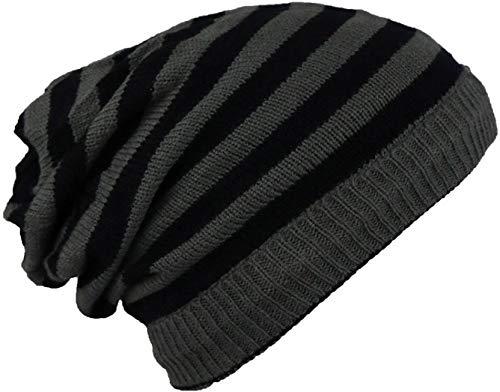 Mens womens Solid Woolen Slouchy Winter Beanie Cap