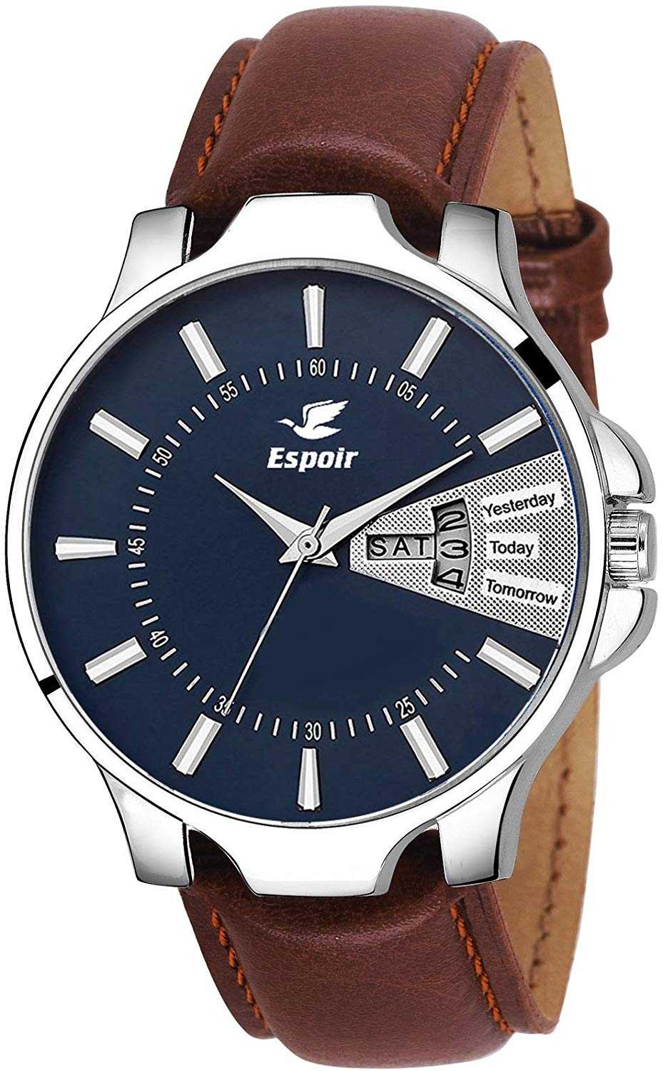Espoir Analog Blue Dial Day And Date Men's and Boy's Watch   InfiDex0507