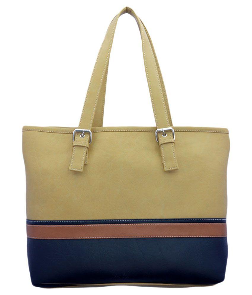 Lady Queen Beige P.U. Shoulder Bags