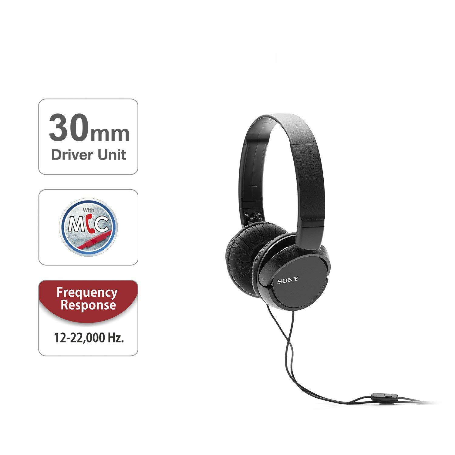 SONY MDR ZX110AP WITH MIC BLACK