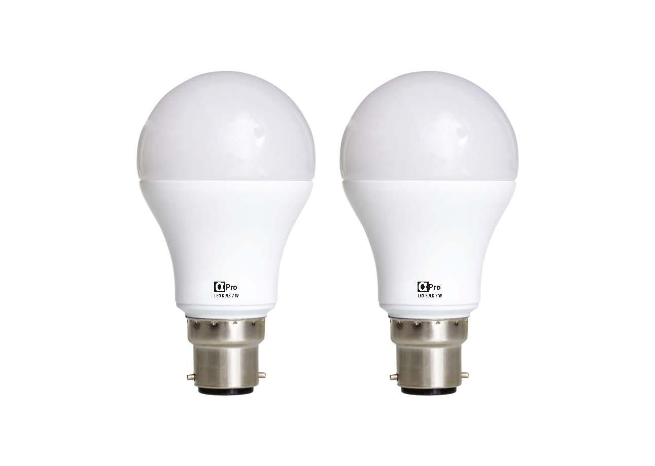 Alpha B22 7 Watt LED Bulb  Pack of 2, Cool Day Light