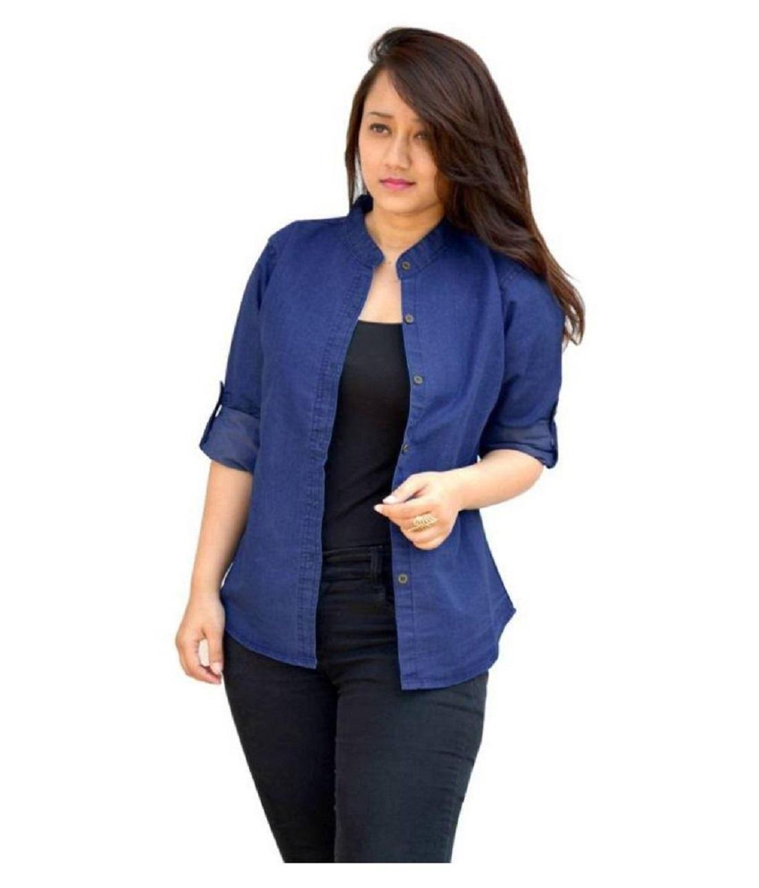 Women's Denim Blue Shirt