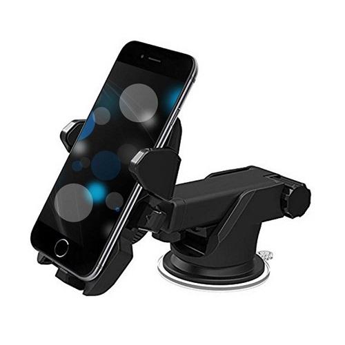 techdeal Car Mobile Holder for Dashboard, Windshield  Black