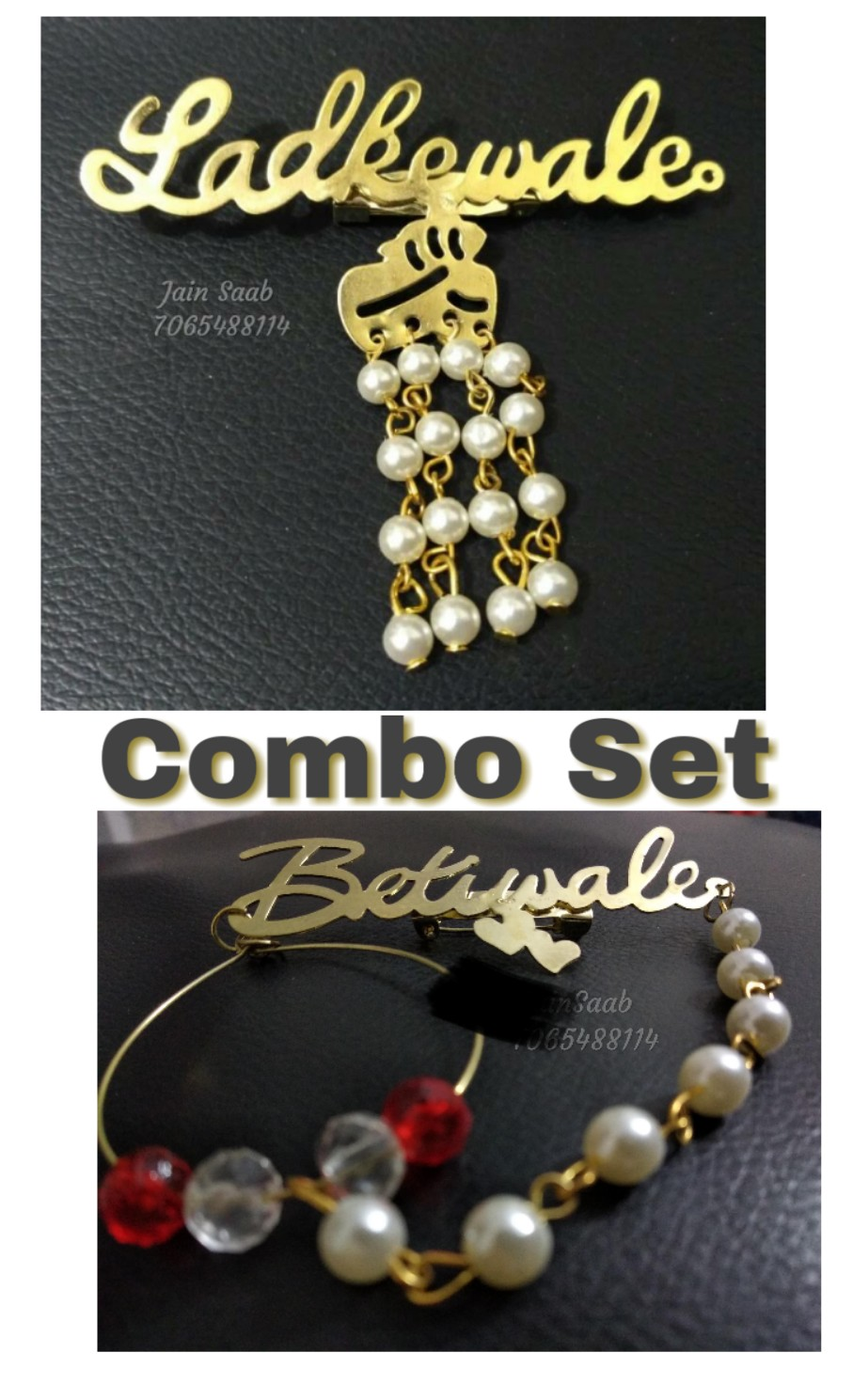 ladkewale 100pc and Betiwale Brooch 100 pc   Combo of 200 pcs