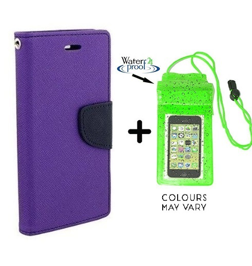 Motorola Moto G  2nd Gen  / Cover For Moto G2   PURPLE With Underwater Pouch Phone Case