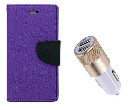 Samsung Galaxy S Duos S7562 / Cover For Samsung S7562   PURPLE With Usb Car Charger