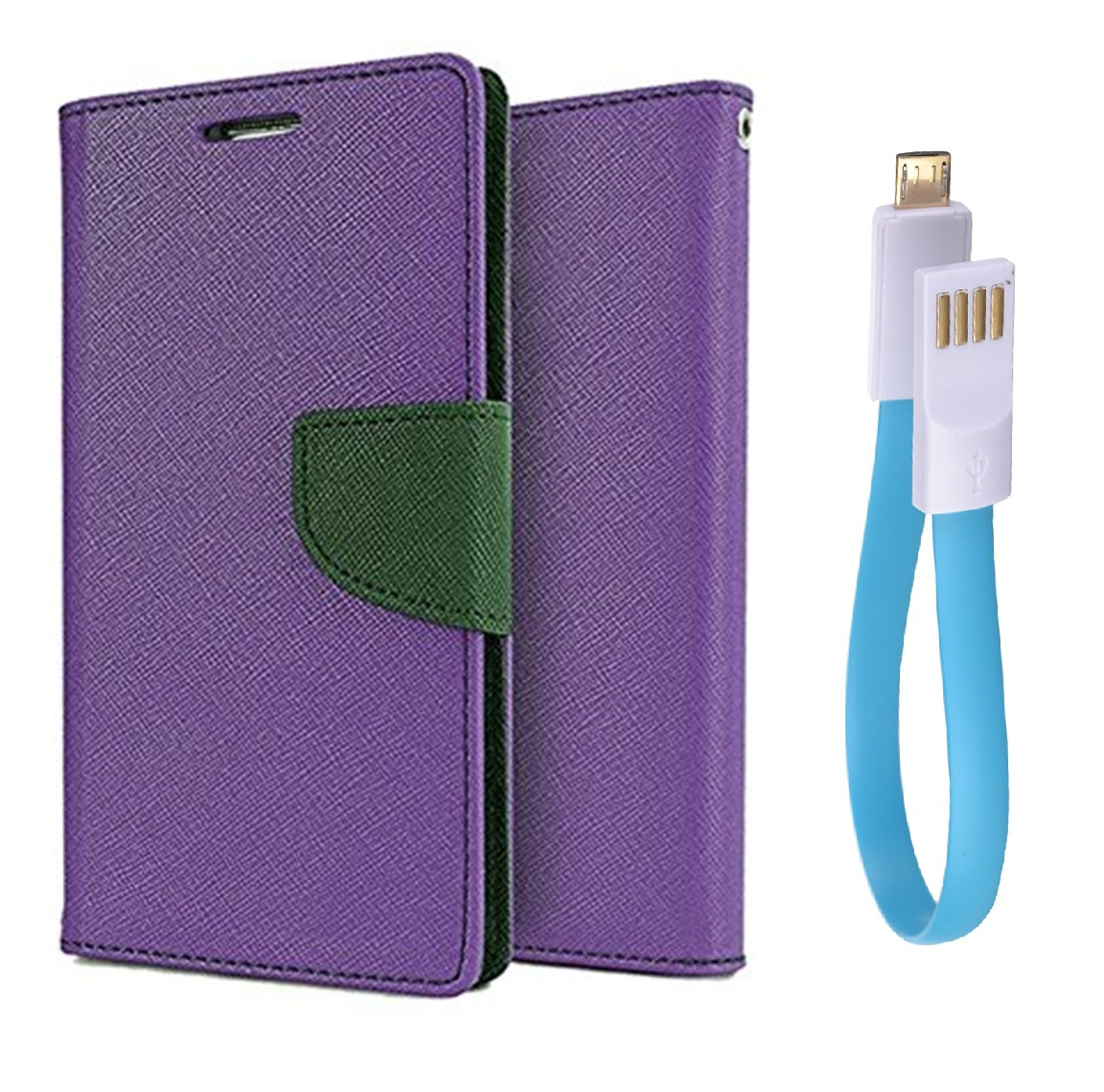 Motorola Moto E3 Power / Cover For Moto E3 Power   PURPLE With usb cable