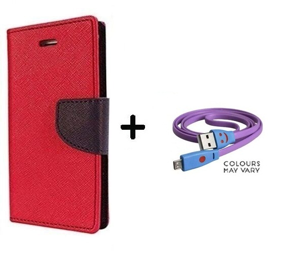 Samsung Galaxy Trend GT S7392 / Cover For Samsung 7392   RED With Micro SMILEY USB CABLE