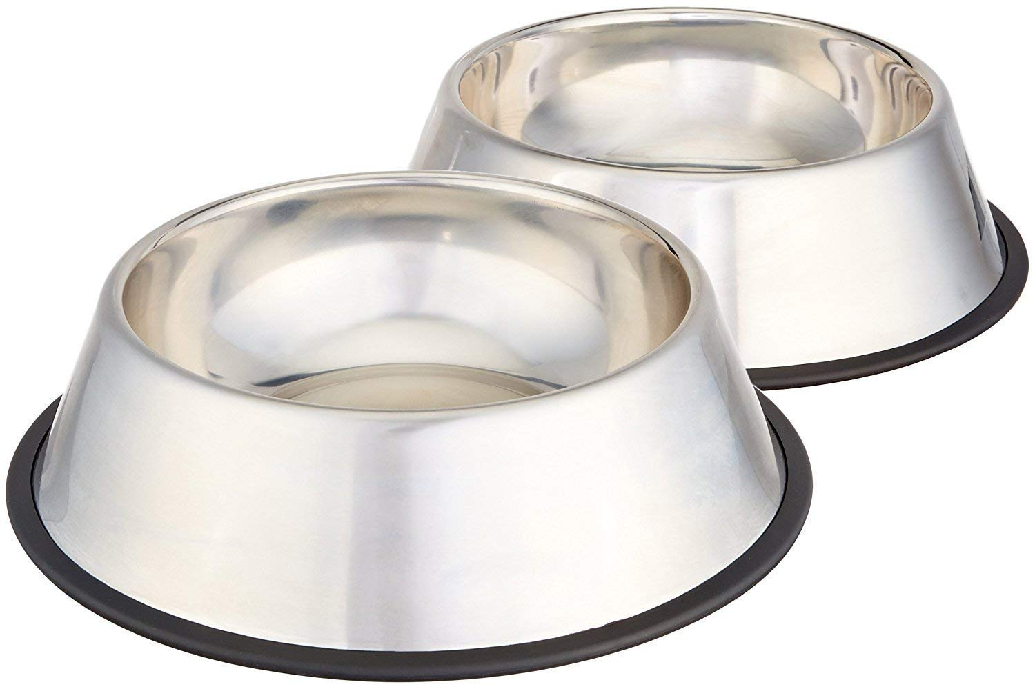 HopeShop Stainless Steel Dog Bowl  Medium, Set of 2