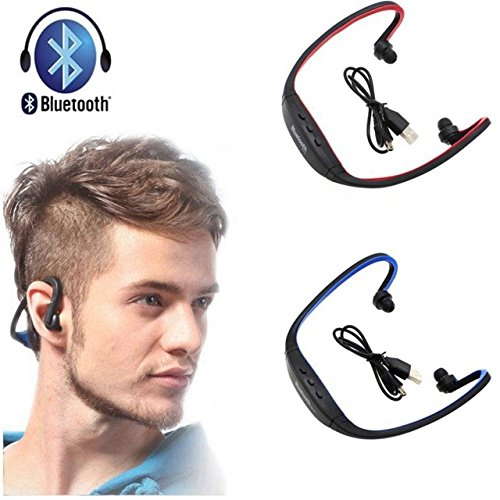 Fleejost Bluetooth Headphones with Mic SD Card Slot BS19C  Black