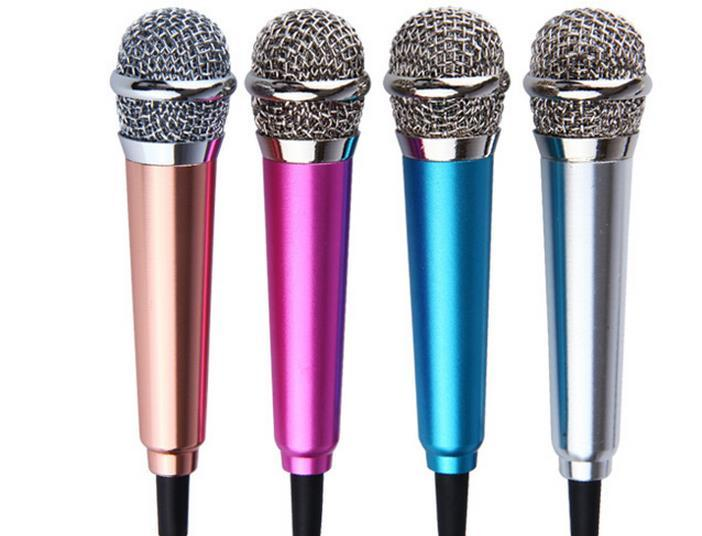 Colorful Mini Metal Microphone For Computer Android Mobile universal Microphones