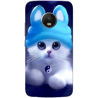 Moto G5 Plus Case, Cute Kitten Blue Slim Fit Hard Case Cover/Back Cover for Motorola Moto G5 Plus