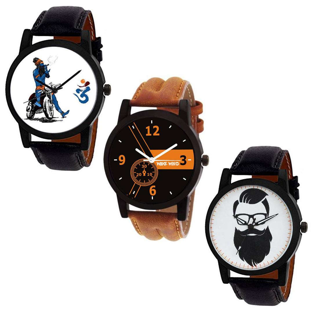 C3 O GBTBM Three Mens Watches Combo by Wake Wood