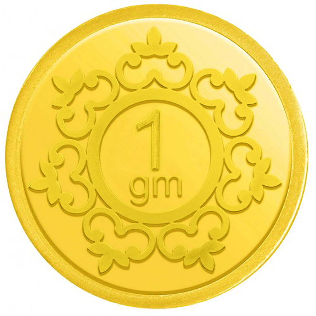 Guarantee Ornament House 1g pure Gold Coin hallmarked 24kt Gold with Govt certified hallmark