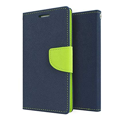 Mercury Goospery Fancy Diary Wallet Flip Case Cover for LeEco Le 1s   Blue/Green