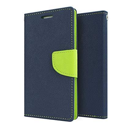 Mercury Goospery Fancy Diary Wallet Flip Case Cover for LeEco Le 1s   Blue/Green