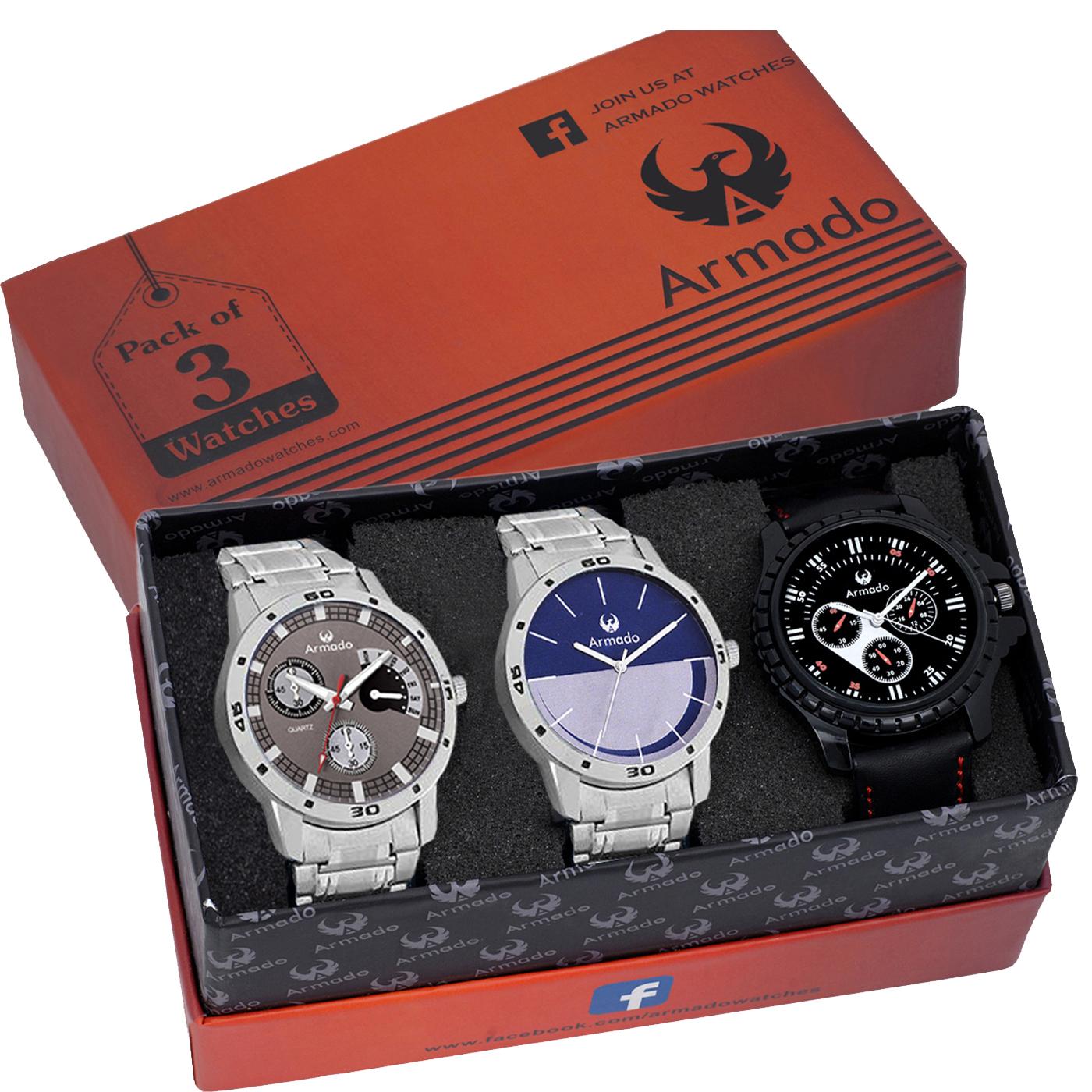 Armado AR 510071 GRY Chronograph Design Watch   For Men