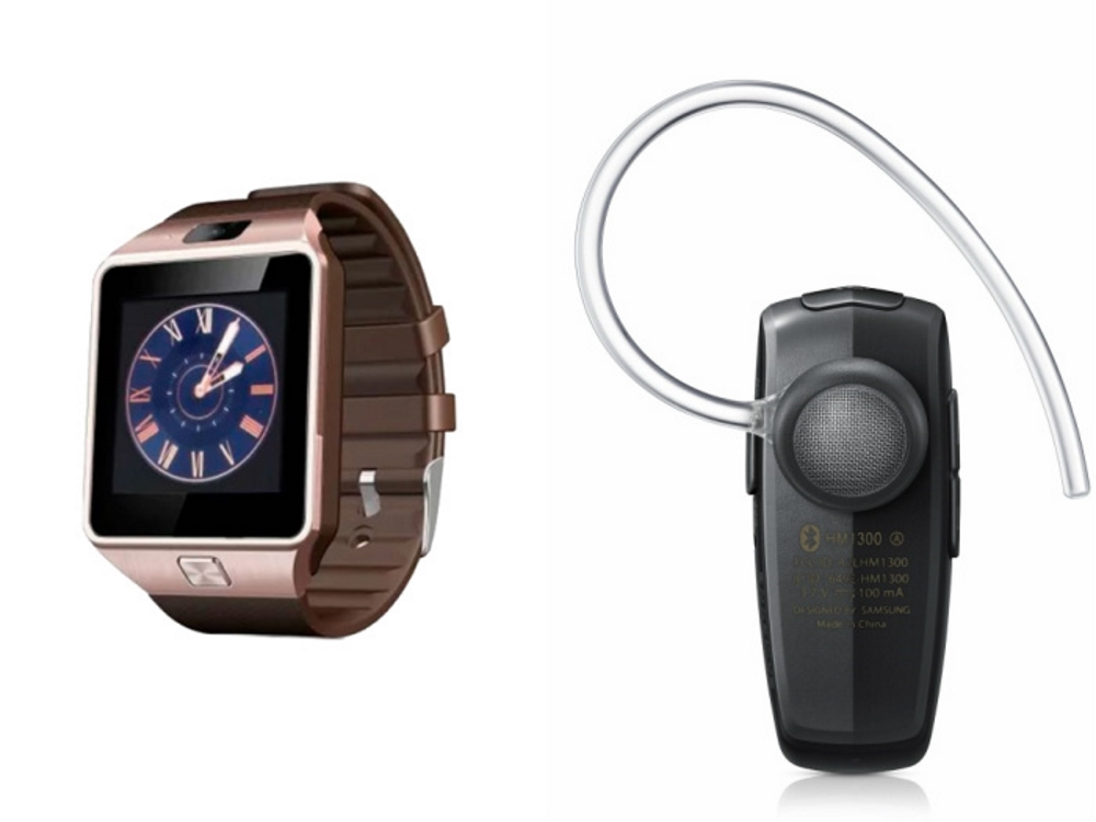 Mirza DZ09 Smartwatch and HM1100 Bluetooth Headphone for VIVO x6s plus DZ09 Smart Watch With 4G Sim Card, Memory Card HM1100 Bluetooth Headphone