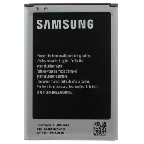 Li Ion Polymer Replacement Battery EB595675LU 3100mah Battery For Samsung Galaxy Note 2 N7100