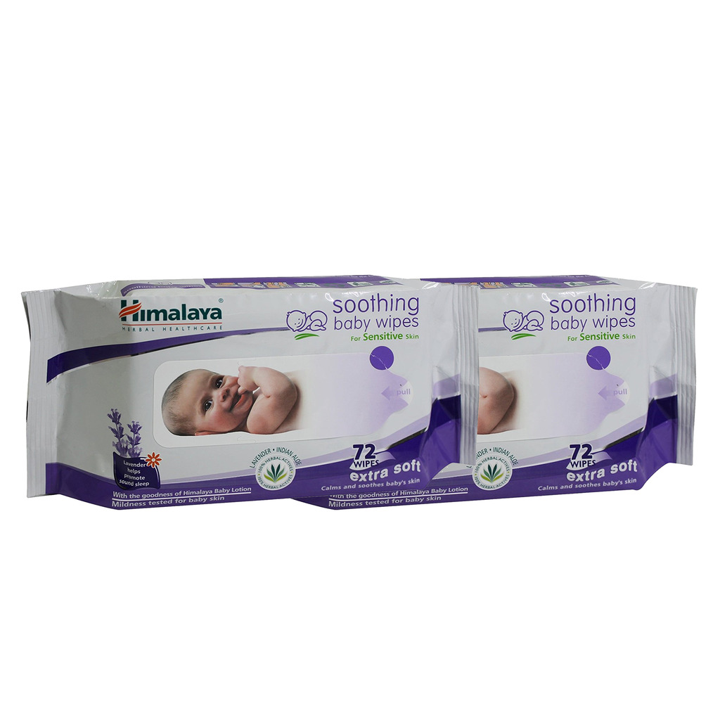 Himalaya Baby Wipes 72's  Pack of 2