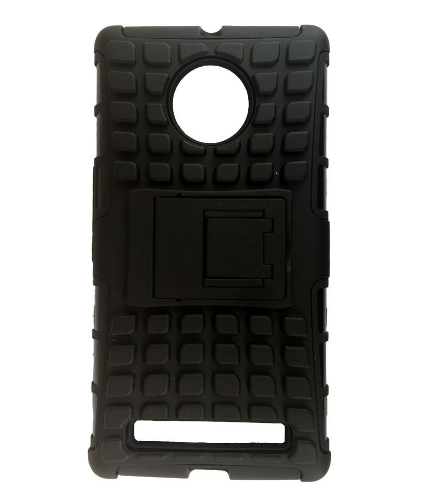 Micromax YU Yuphoria YU5010 Armor Defender Hybrid Kick stand Back Case Cover