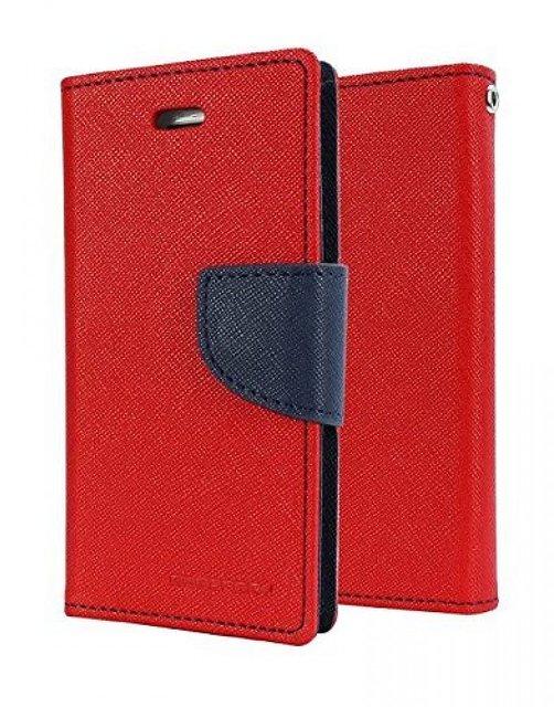 Mercury Goospery Fancy Diary Wallet Flip Cover for LENOVO K8 NOTE  RED