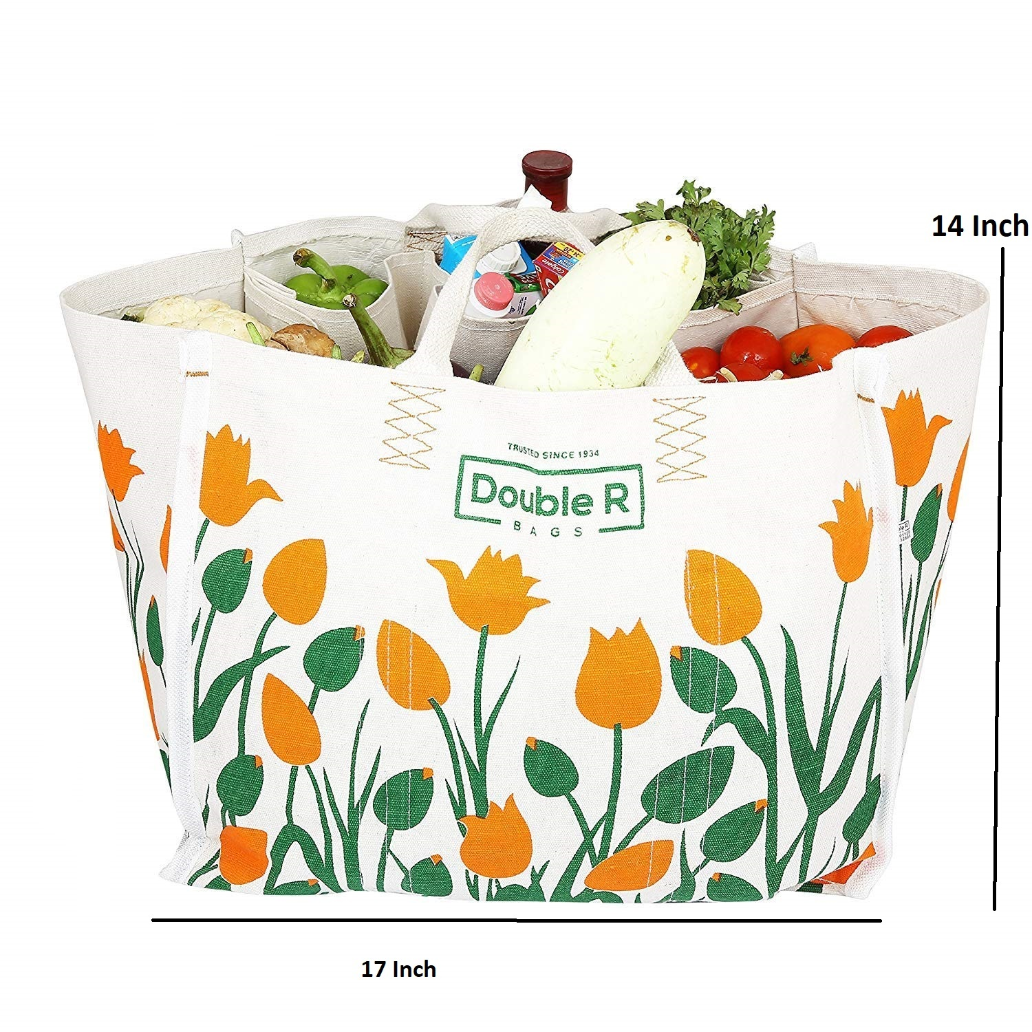 Double R Large Heavy Duty Waterproof Shopping Bags Kitchen Essentials/Grocery Bag/Vegetable Bag/jhola / Carry Bag/thela