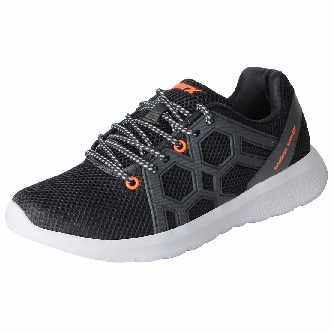 Sparx Men's Grey Orange Mesh Sports Running Shoes