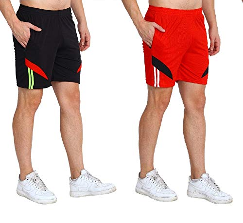 Dia A Dia Sports Shorts for Men 100 Quality Material Zip Pockets Daily Wear Boys Nicker Free Size Adjustable Siz
