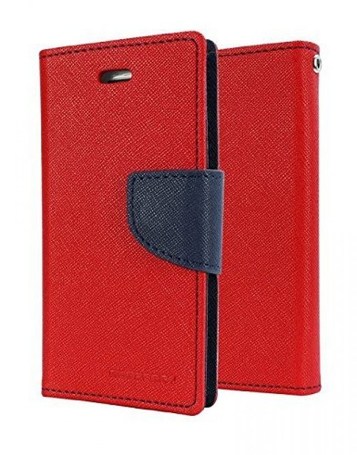 Mercury Goospery Fancy Diary Wallet Flip Cover for Samsung Galaxy J2  2016   Red