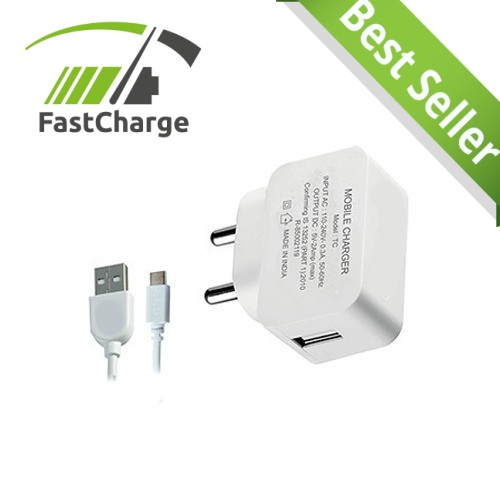 2.1 Amp USB Wall Charger for Smartphones and Tablets  White