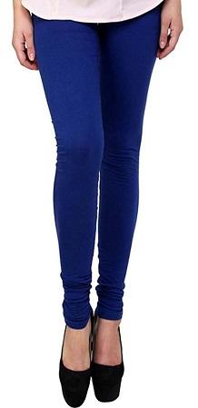 Fashionyet Blue Cotton Women Legging