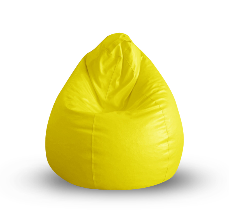 Style Homez Classic XL Bean Bag Cover Yellow Color, Premium Leatherette Fabric