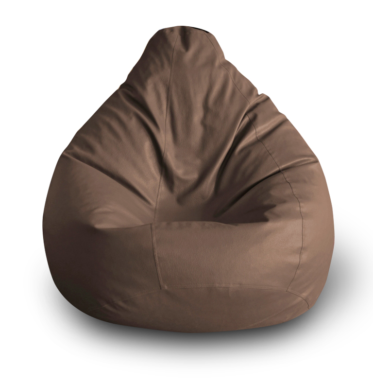 Style Homez Classic XXL Bean Bag Cover Chocolate Brown Color, Premium Leatherette
