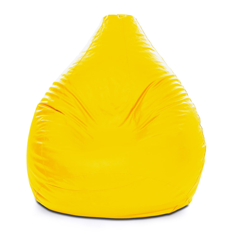 Style Homez Classic XXXL Bean Bag Cover Yellow Color, Premium Leatherette